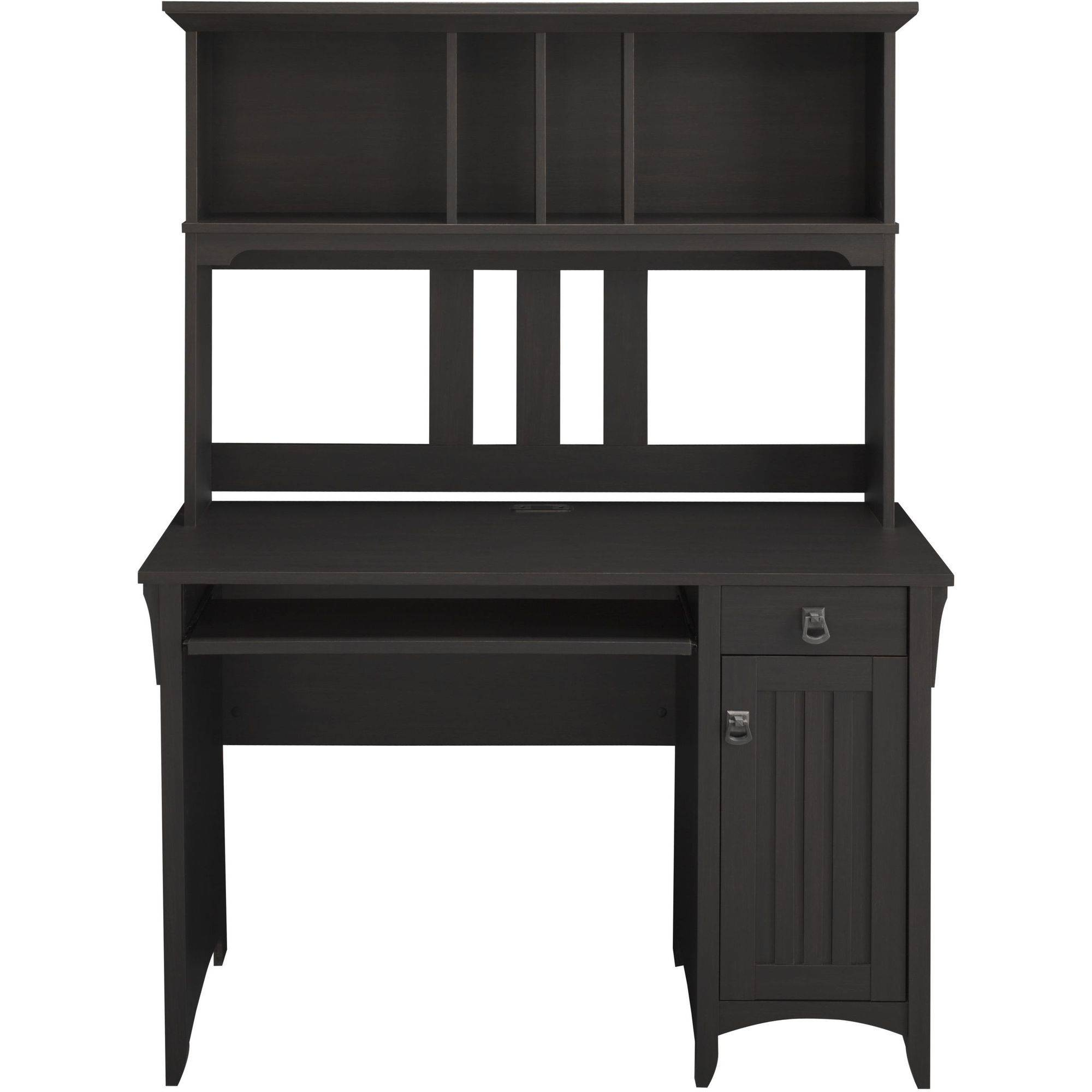 Bush Furniture Salinas Mission Style Desk With Hutch In Vintage Black