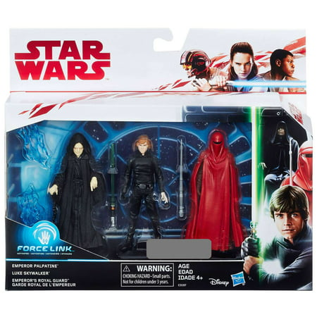 Star Wars Force Link Emperor Palpatine, Luke Skywalker & Emperor's Royal Guard Action Figure 3-Pack