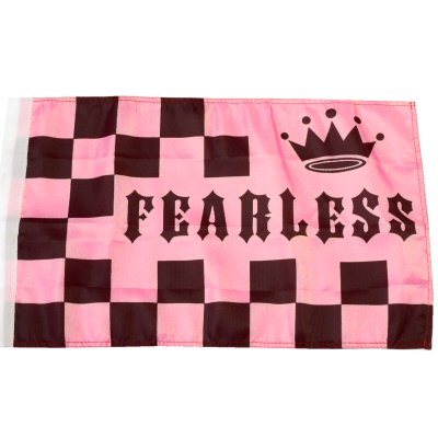 Small 12 Inch X 20 Inch Replacement Flag For Whip Antenna Pink Fearless (Replacement Glass Vaporizer Whip)