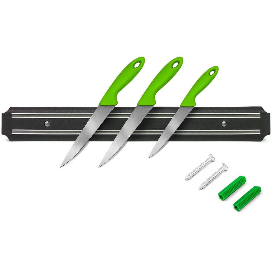 "Magnetic Knife Strip for Metal Utensils, 14.75"""