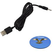 HQRP USB to DC 5V Charger Cable for TRIO Stealth PRO 4GB 7'' 9.7'' TABLET METAL-7C 4.0 Cord Lead Wire Adapter + HQRP Coaster