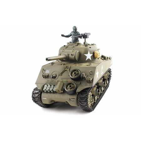 2.4Ghz Radio Control 1/16 US M4A3 Sherman 105mm Howitzer Air Soft RC Battle Tank w/Sound & (24 Rc Battle Tank)