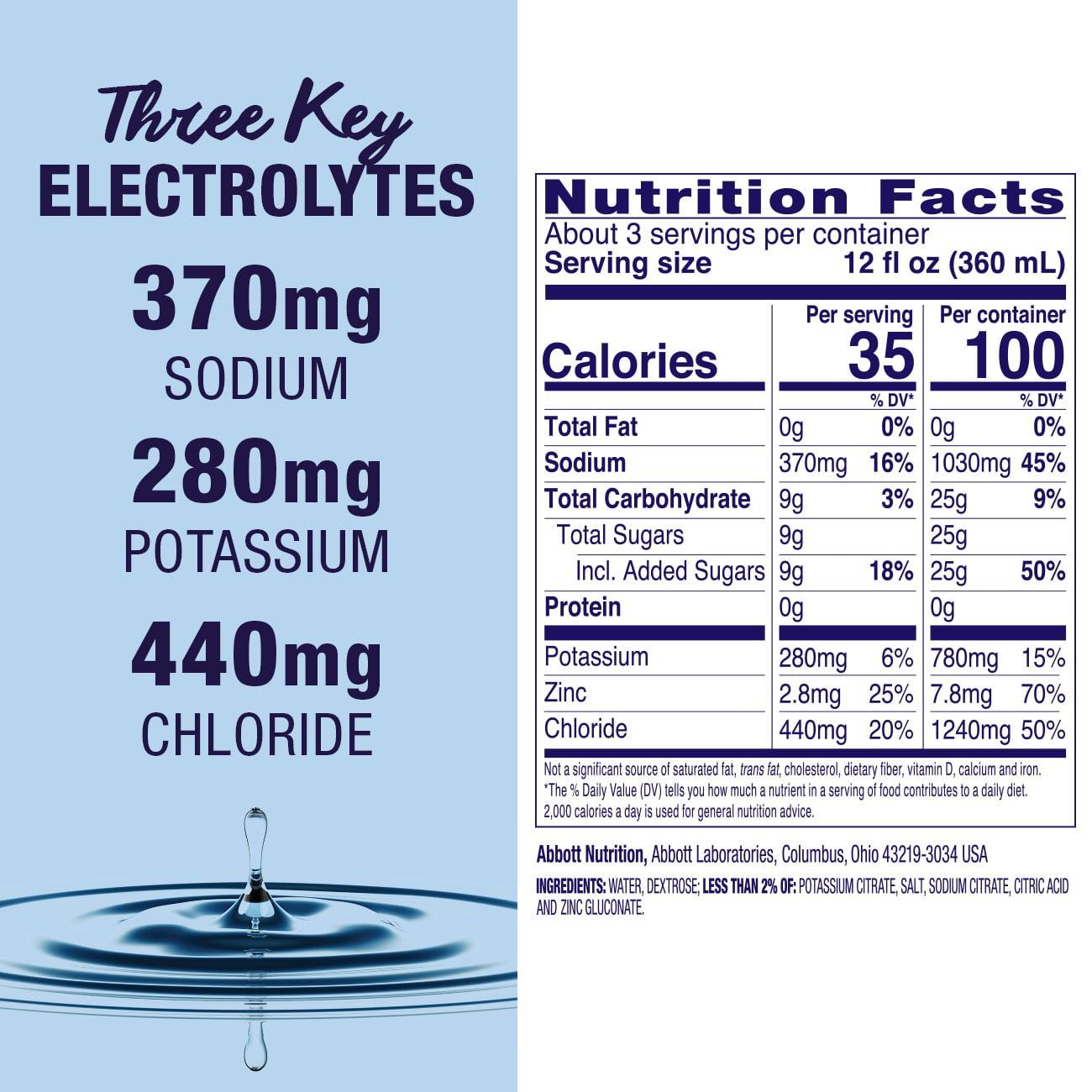Pedialyte Electrolyte Solution Hydration Drink 1 Liter Unflavored Walmart Com Walmart Com