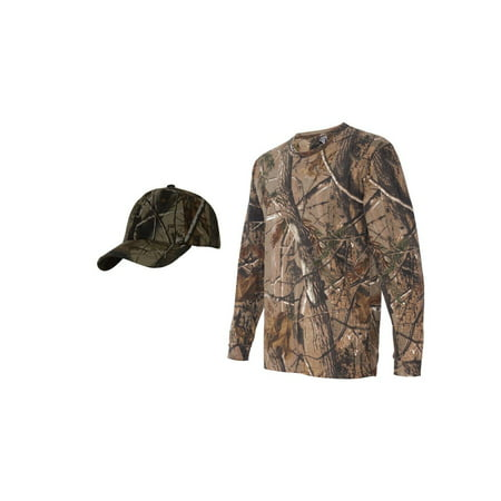 Realtree Camouflage Long Sleeve Shirt + Upscale Camo Hat](Top Hat Discount Code)