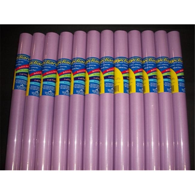 RiteCo Raydiant 80175 Riteco Raydiant Fade Resistant Art Rolls Lilac 18 In. X 50 Ft. 12 Pack