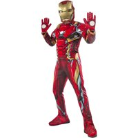 Rubie's Iron Man Full Costume For Kids - Comes With Mask And Gloves (Medium, 8)