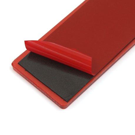 remorque voiture plastique rouge plaque r fl chissante r flecteur gluant 145mm x 50mm 15pcs. Black Bedroom Furniture Sets. Home Design Ideas