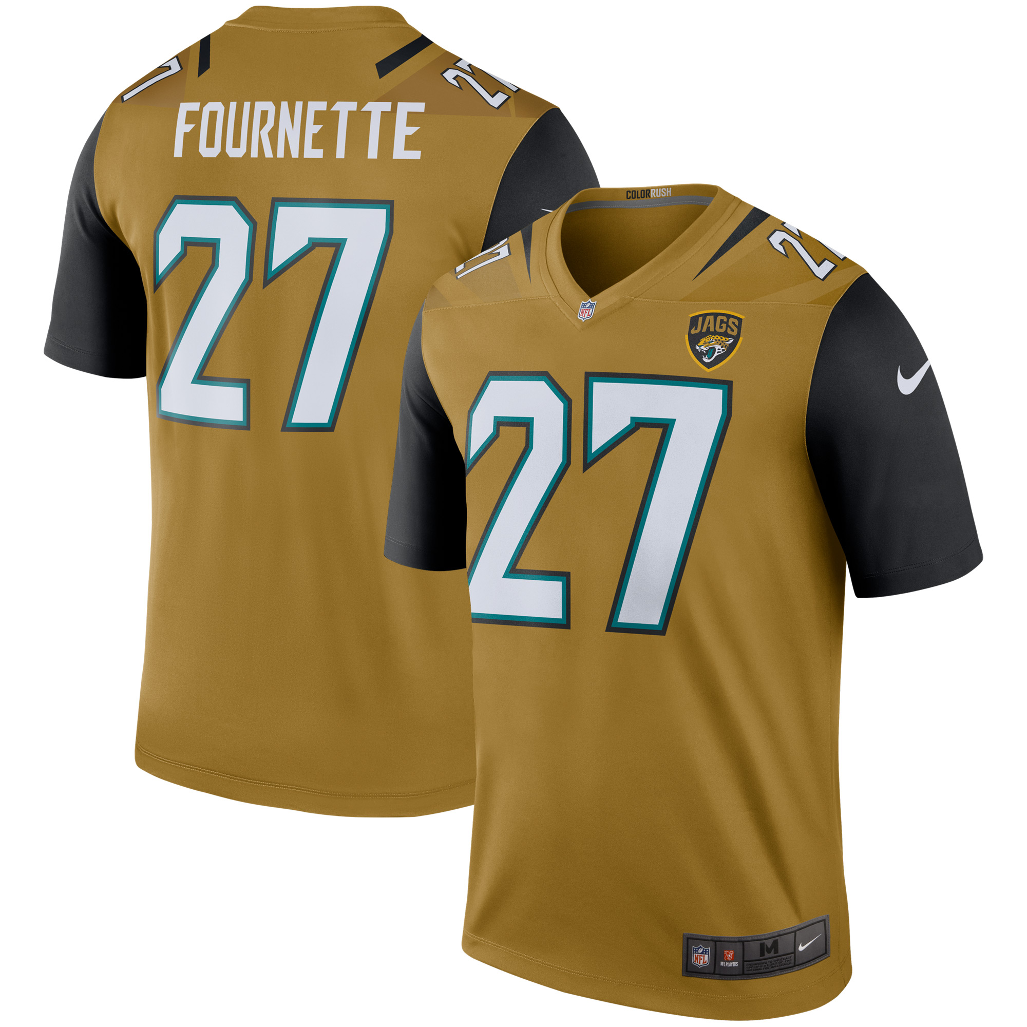 innovative design d0795 23e8d Men's Nike Leonard Fournette Gold Jacksonville Jaguars Color Rush Legend  Jersey