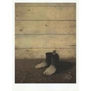 "RENE MAGRITTE Le Modele Rouge 27.5"" x 19.75"" Poster 2012 Surrealism Gray, Black"