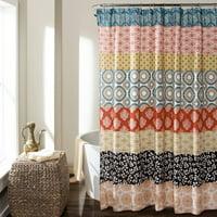 Product Image Bohemian Stripe Shower Curtain Turquoise Orange