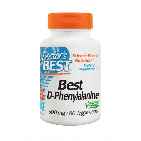 Doctor's Best D-Phenylalanine, Non-GMO, Vegan, Gluten Free, 500 mg, 60 Veggie (Best Muscle Relaxer For Back Spasms)