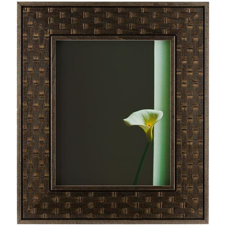 Craig Frames Russet Basket, Dark Brown Hardwood Picture Frame, 14x18 ...