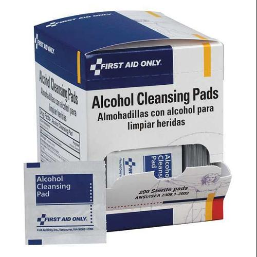 FIRST AID ONLY H305-200GR Alcohol Cleansing Pads,200/Box G2276051