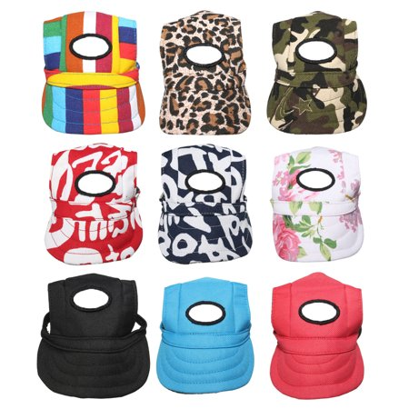 Canvas Summer Small Pet Dog Cat Baseball Visor Hat Puppy Cap Outdoor Sunbonnet,red color Baseball Hats For Dogs