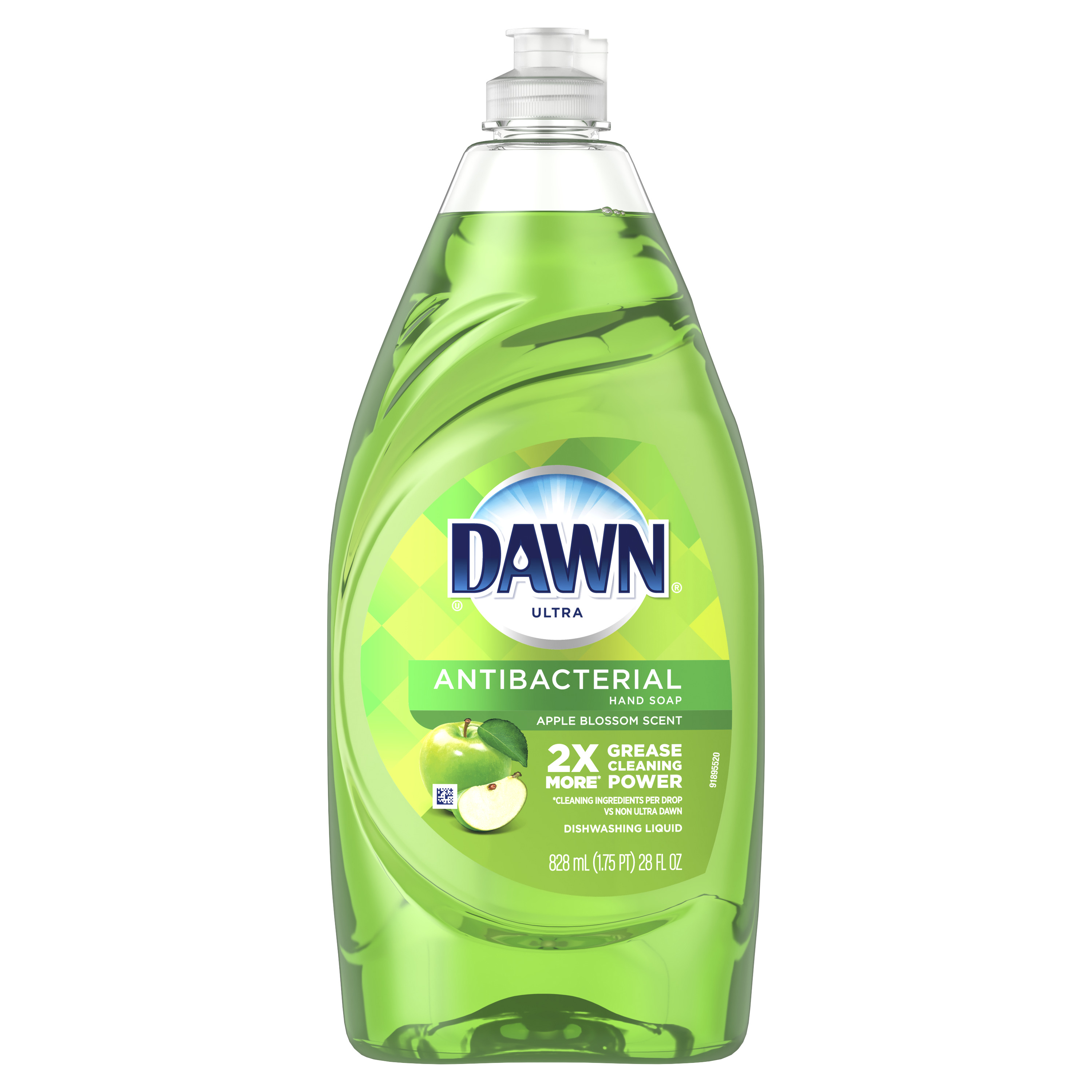 Dawn Ultra Antibacterial Hand Soap, Dishwashing Liquid Dish Soap, Apple Blossom Scent, 28 fl oz