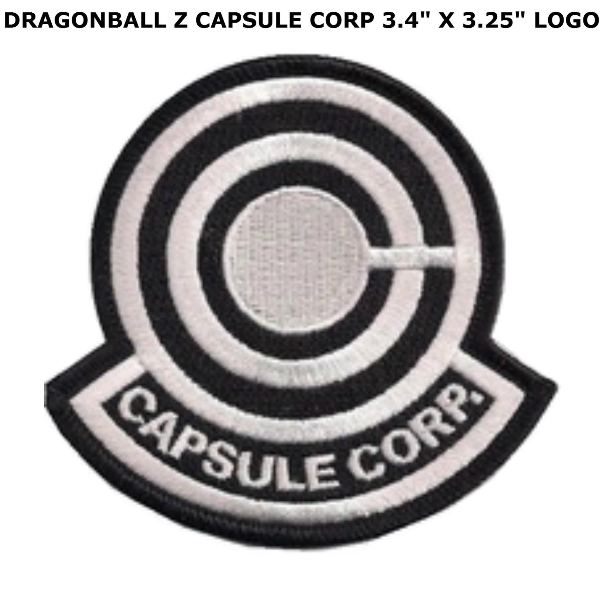 """Superheroes Anime Dragon Ball Z Capsule Corp 3.4"""" X 3.25"""" Embroidered Iron/Sew-on Applique Patch"""