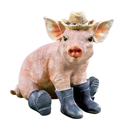 Collections Etc. Adorable Pig in Boots Animal Garden Statue Spring Decoration