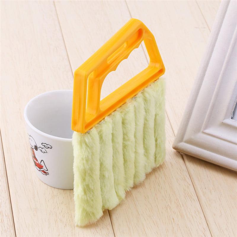 Filfeel Useful Microfiber Window Cleaning Brush Practical Handheld Blind Blade Air Conditioner Duster Cleaner Household Tool