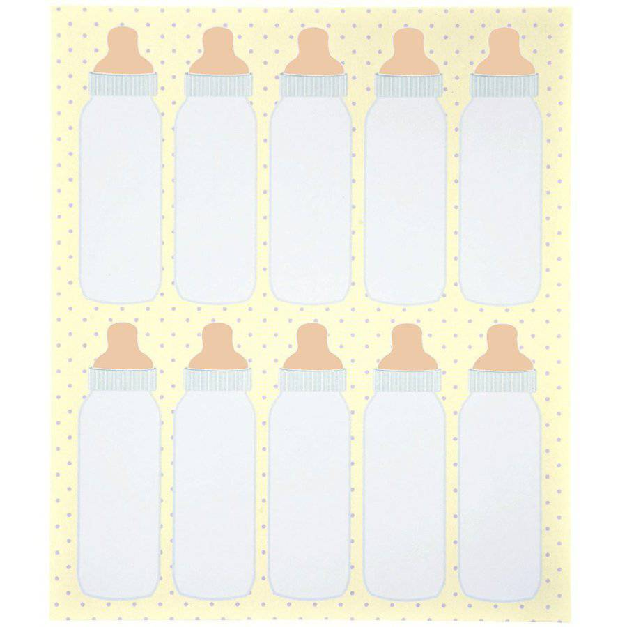 Wilton Party Favor Tags, Baby Bottles 80 ct. 1008-257