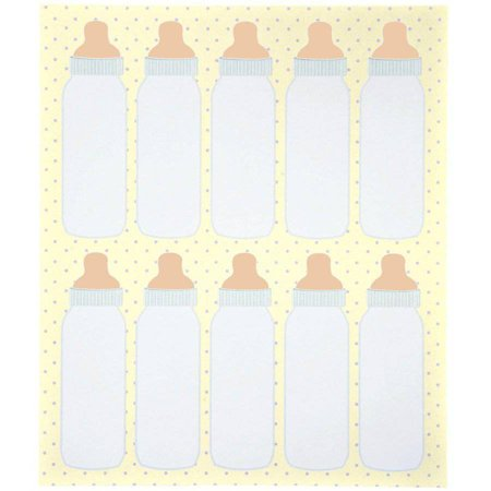 Wilton Party Favor Tags, Baby Bottles 80 ct. - Bottle Tags
