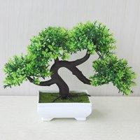AkoaDa 1 Pc Welcoming Pine Emulate Bonsai Simulation Decorative Artificial Flowers Wreathes Fake Green Pot Plants Ornaments Home Decor