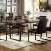 Furniture of America Nietra Rectangle Dining Table, Gun Metal and Dark Oak