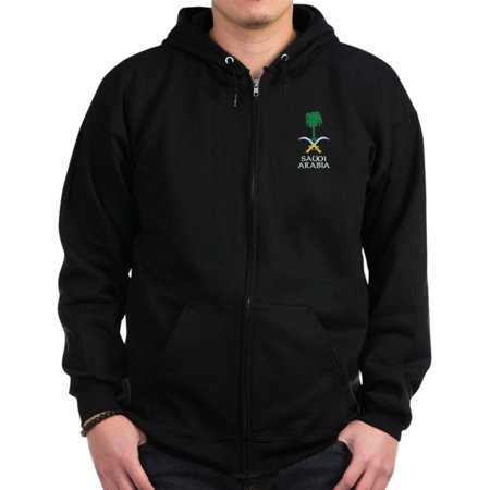 CafePress - Saudi Arabia Coat Of Arms - Zip Hoodie, Classic Hooded Sweatshirt with Metal Zipper