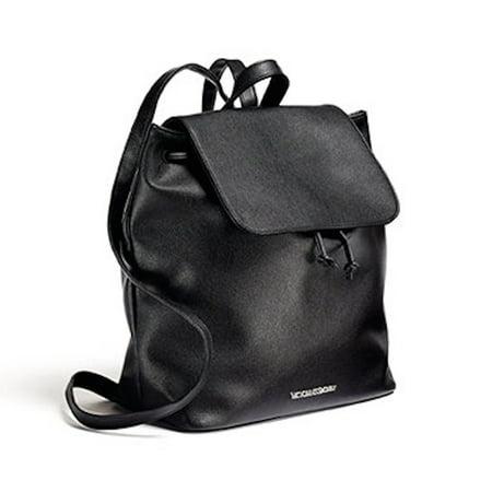 Y Little Backpack Faux Leather Bag Purse Black