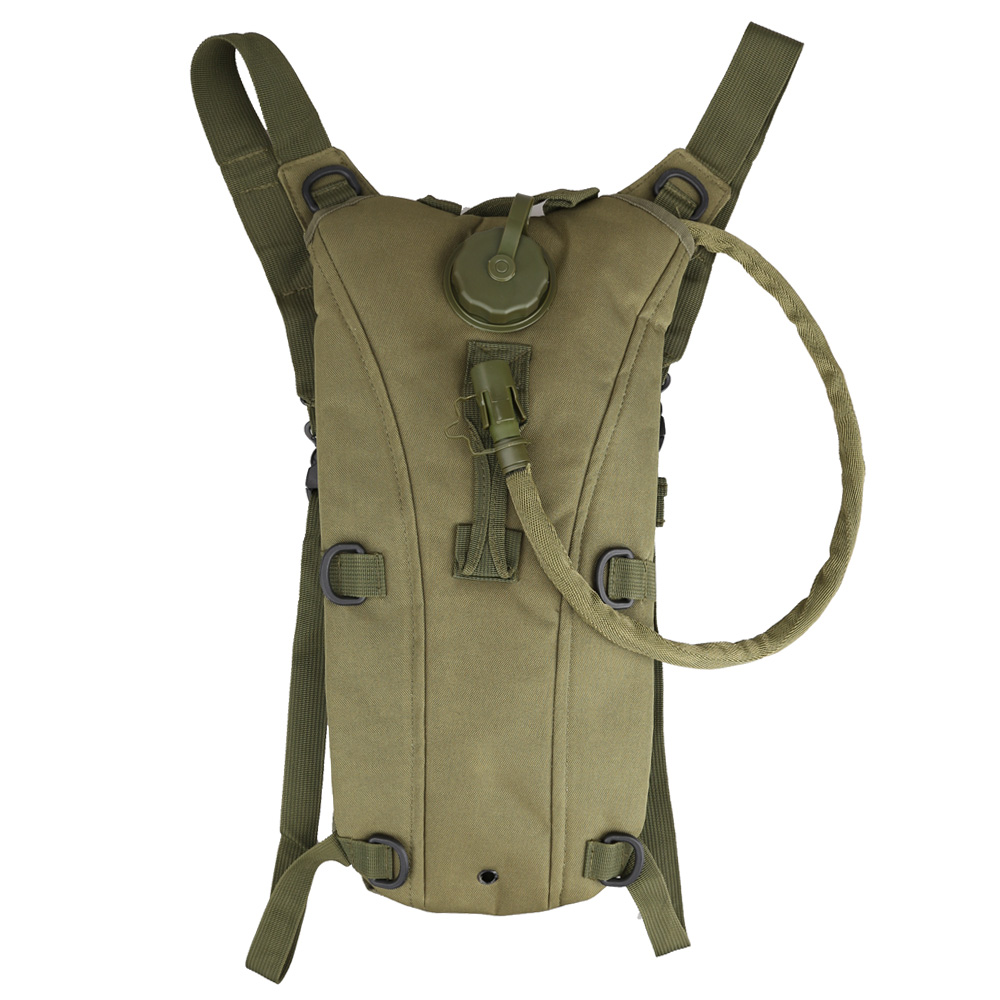 Army Green Tactical Outdoor Survival 3L Water Backpack Bag with Bladder 3L by