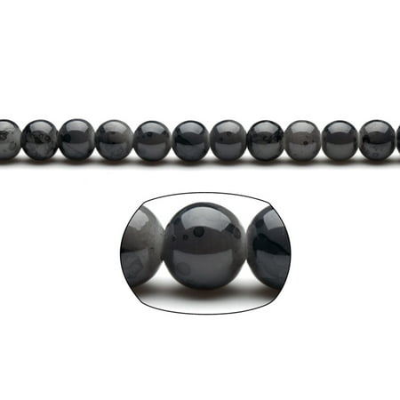 Black Marble Grain Patterned Glass Beads 10mm Round 18x16Inch/pack for $<!---->