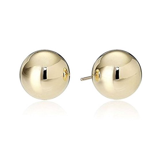 244fa3fce Surgical Stainless Steel Studs Earrings Men, Women, Girls, Boys Gold Plated  SHINY Ball Hypoallergenic Earrings WITH A FREE GIFT SILVER RHODIUM PLATED  SHINY ...