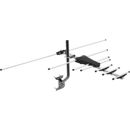 GE Pro Outdoor Yagi Antenna, 70 Mile Range, VHF/UHF Channels, 33685 (Outdoor Tv Antenna Amplifier)