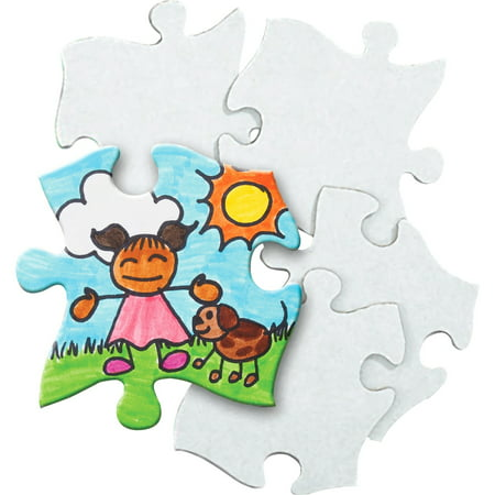 Roylco, RYLR52022, Blank Cardboard Puzzle Pieces, 32 / Pack, - Blank Puzzle Pieces Michaels