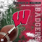Wisconsin Badgers 2016 12x12 Team Wall C