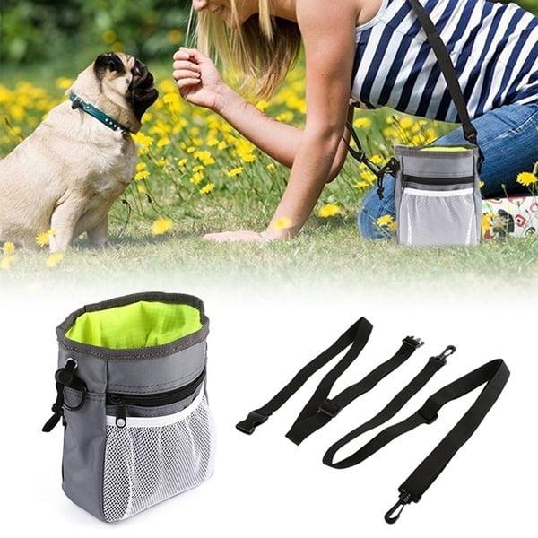 Dog Treat Training Pouch Easily Carries Pet Toys Treats Built Poop Bag Dispenser