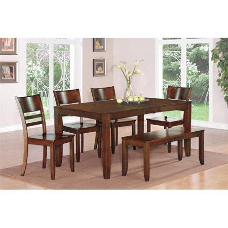 East west furniture lyfd6 esp w 6 piece lynfield for Dining room tables 38 inches wide