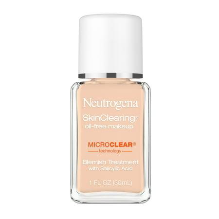 Neutrogena SkinClearing Foundation for Acne, Nude, 1 fl. oz