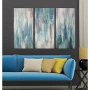 The Lighting Store Hand-painted 'Sea of Clarity' 3-piece Gallery-wrapped Canvas Art Set