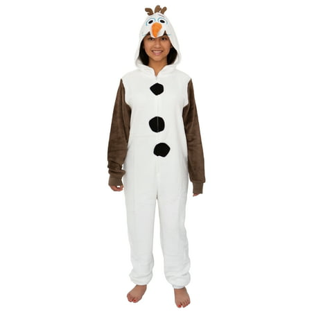 Disney Frozen Olaf Adult Cosplay Costume Plush Pajama One-Piece Union Suit
