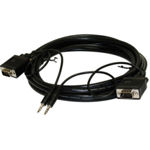 6FT SVGA HD15 / 3.5MM STEREO M/M MONITOR/AUDIO CABLE