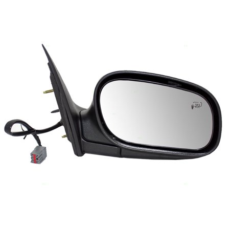Passengers Performance Upgrade Power Side View Mirror Heated with Chrome Cover Replacement for 98-08 Ford Crown Victoria Mercury Grand Marquis 6W7Z17682BA Crown Automotive Side Mirror