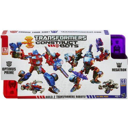 Hasbro Transformers Construct-Bots Optimus Prime Vs. Mega...