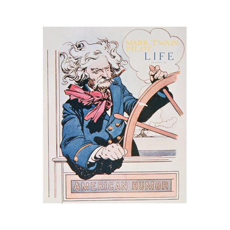 Cover of Life Magazine Featuring a Caricature of Mark Twain as the Pilot of a Paddle-Steamer, 1905 Print Wall (Best Life Magazine Covers)