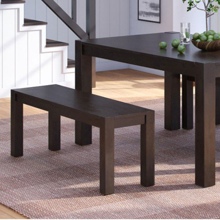 Better Homes & Gardens Bryant Solid Wood Dining Bench, Deep Coffee Finish Dining Room Metal Bench