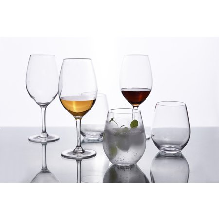 Nuglass 19oz Tritan Stemless Wine Glass 6-pack, BPA - Stemless Wine Glasses Plastic