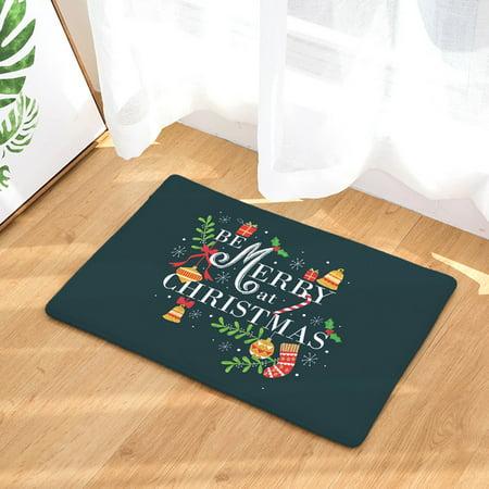 Mosunx® Christmas Home Non Slip Door Floor Mats Hall Rugs Kitchen Bathroom Carpet - Hall Floor