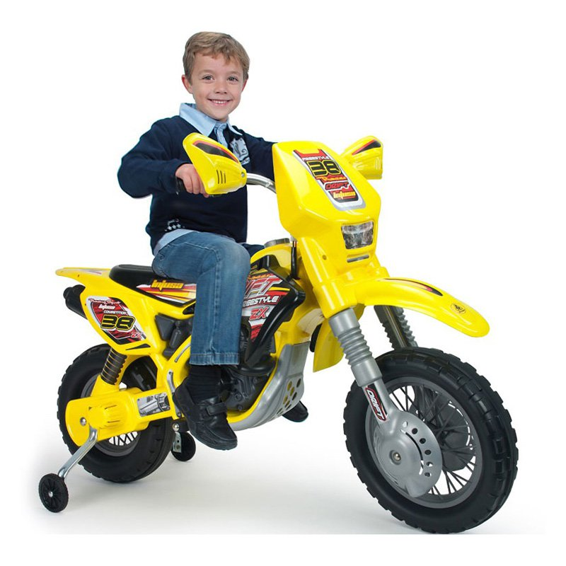 Injusa Motocross Thunder Max VX Motorcycle Battery Powered Riding Toy by Big Toy USA