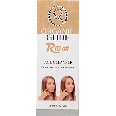 Organic Glide RID-off Face Cleanser for Acne Pimples and Blackheads With Dead Sea Mineral Salt 150