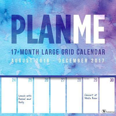 Planme 17 Month Large Grid August 2016   December 2017 Calendar
