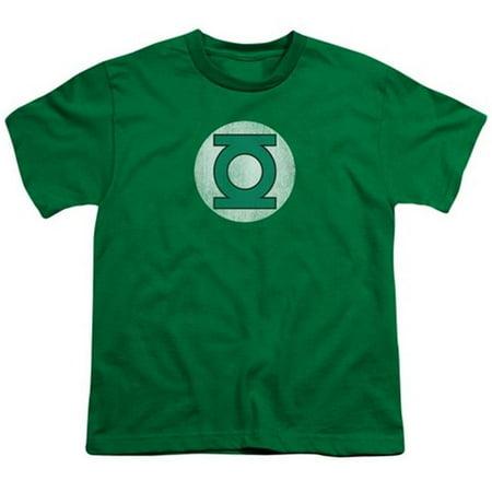 Comics Green Lantern Logo Distressed Big Boys Shirt